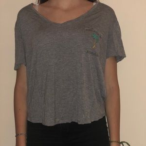 """forever 21 soft v neck tee """"welcome to paradise"""""""